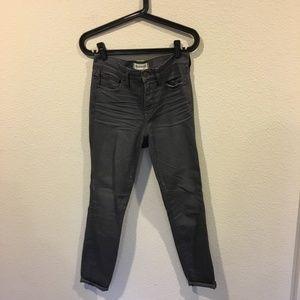 Madewell high riser skinny gray jeans